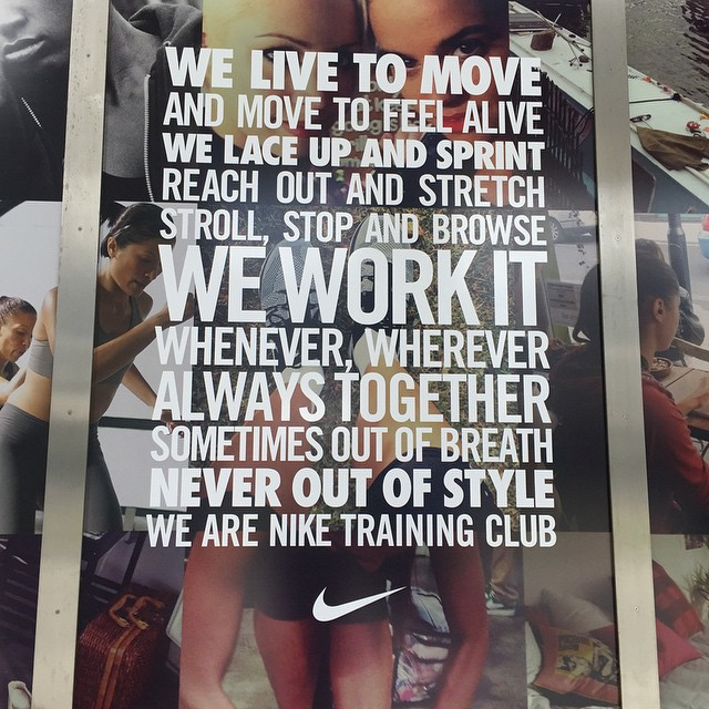 #Nike motivating people to move! #justdoit #jfdi #fitspo #fitspiration