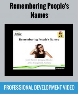 remembering peoples names