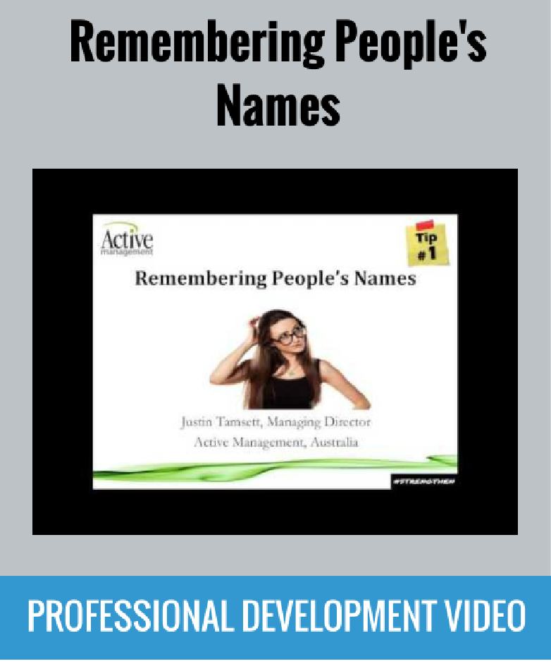 remembering peoples names