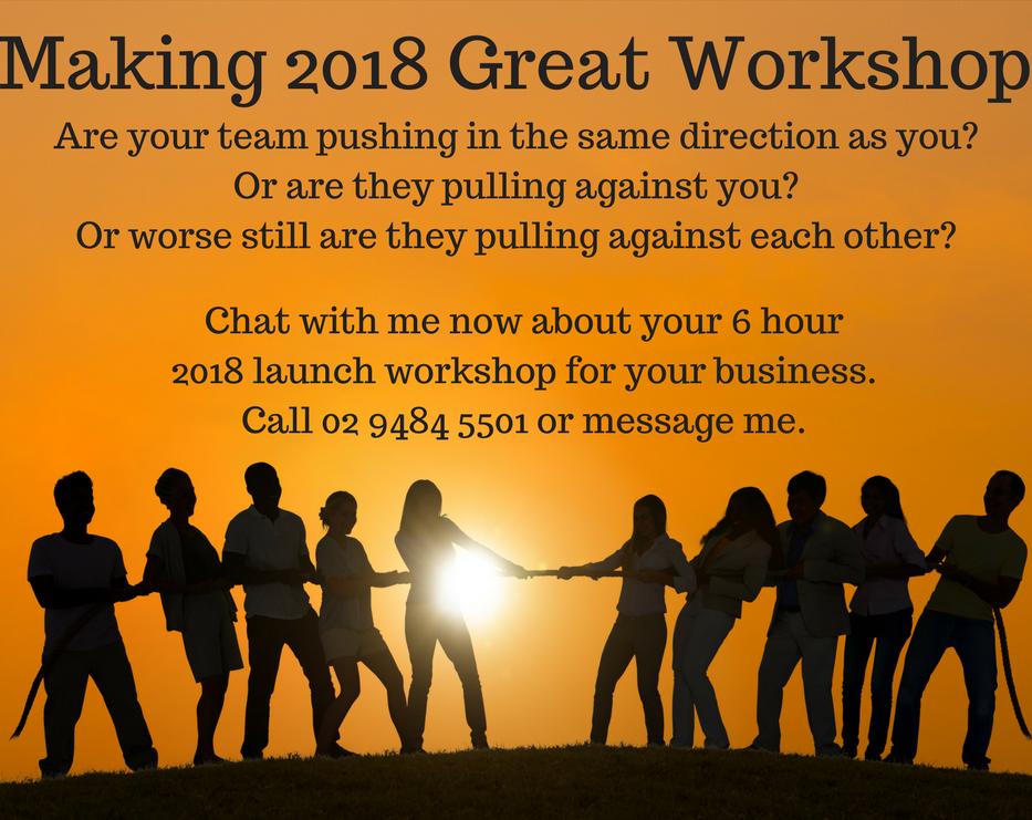 Making 2018 Great Workshop